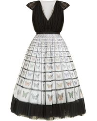 Mary Katrantzou - Caged Beauty Butterfly Print Tulle Midi Dress - Lyst