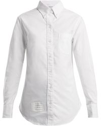 Thom Browne - Single Cuff Cotton Oxford Shirt - Lyst