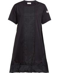 9e0e7341bcf Moncler - Robe en jersey de coton à col rond Abito - Lyst