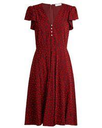 Altuzarra - Camilla Flocked Spot-print Cady Dress - Lyst