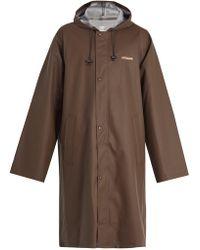 Vetements - Oversized Pvc-coated Hooded Raincoat - Lyst