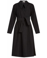 Lemaire - Tie-waist Wool-blend Twill Trench Coat - Lyst