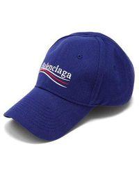 Balenciaga - Logo-embroidered Cotton Cap - Lyst