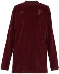 adidas Originals - Long-sleeve Velvet Sweater - Lyst