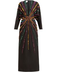 5d9d49eca38 Gucci - Sunray Sequinned Silk Crepe Gown - Lyst