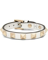 Valentino   Rockstud Leather Bracelet   Lyst