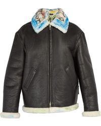 Balenciaga - Graffiti Shearling Jacket - Lyst