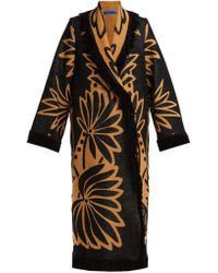 Marit Ilison - Palm Intarsia Tasselled Cotton Coat - Lyst