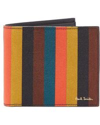 Paul Smith - - Striped Leather Wallet - Mens - Multi - Lyst