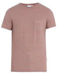 Onia - Chad Striped Linen Blend T Shirt - Lyst