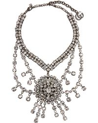 Gucci - Crystal Embellished Statement Necklace - Lyst