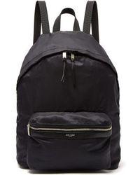 Saint Laurent - City Nylon Backpack - Lyst