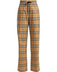 Burberry - Whynham Cotton Trousers - Lyst