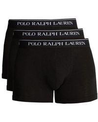 Polo Ralph Lauren - Set Of Three Cotton-blend Boxer Briefs - Lyst