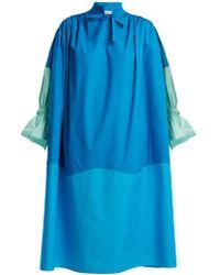 Vika Gazinskaya - Colour-block Cotton Dress - Lyst
