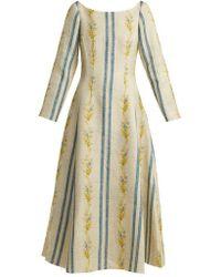 Brock Collection - Dillan Floral-print Linen Dress - Lyst
