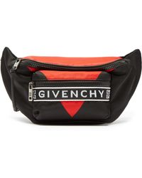 Givenchy - Logo Trim Panelled Belt Bag - Lyst
