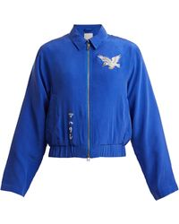 Maharishi - Eagle Embroidered Silk Jacket - Lyst