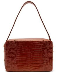 Lutz Morris - Tate Medium Crocodile-effect Leather Shoulder Bag - Lyst