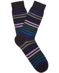 Pantherella - Kilburn Striped Fine-knit Socks - Lyst