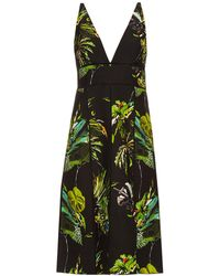 Proenza Schouler - Tropical-print Cut-out Dress - Lyst