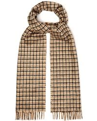 Prada - Reversible Checked Silk And Cashmere-blend Scarf - Lyst