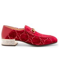Gucci - Logo Pattern Loafers - Lyst