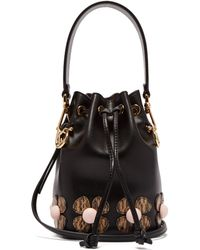 fb41b83533eb Stella McCartney Wild Cat Appliqué Shopper Tote in Black - Lyst