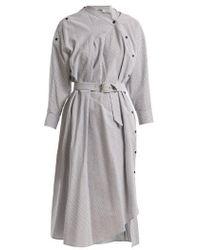 Rachel Comey - Welcome Asymmetric-detail Striped Cotton Dress - Lyst