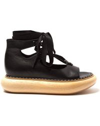 Loewe - Wooden-sole Leather Sandals - Lyst