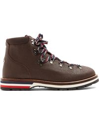 Moncler - Peak Grained-leather Ankle Boots - Lyst