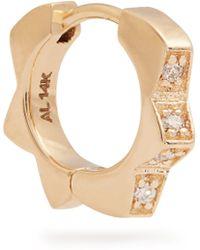 Alison Lou - Diamond & Yellow Gold Stelle Single Earring - Lyst
