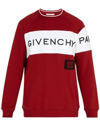 Givenchy - Logo Embroidered Cotton Sweater - Lyst