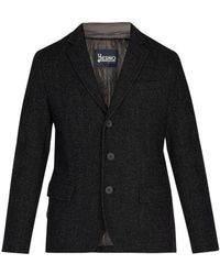 Herno - Single-breasted Wool-blend Jacket - Lyst