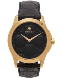 f0fe19c13f4 Gucci - Ya1264034 G-timeless Signature Yellow Gold-plated Stainless Steel  And Leather Watch
