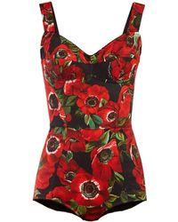 Dolce & Gabbana - Anemone Print Twill Body - Lyst