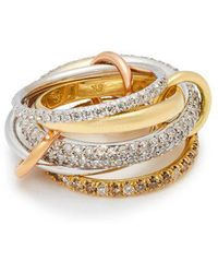 Spinelli Kilcollin - Venus 18kt Gold And Diamond Ring - Lyst