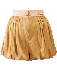 Chloé - Dégradé Puffed Hem Silk Blend Shorts - Lyst