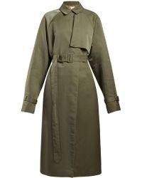 The Row Neita Silk Trench Coat - Green