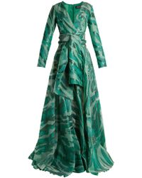 Azzaro - Acid Long Sleeved Jacquard Gown - Lyst