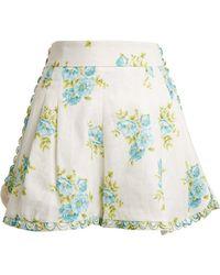 Zimmermann - Breeze Honeymooners Linen Shorts - Lyst