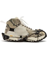 1017 ALYX 9SM - High Top Python Effect Hiking Boot Trainers - Lyst
