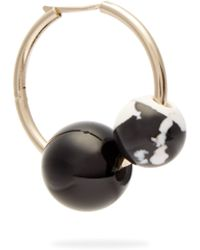 Proenza Schouler - Cluster Beaded Hoop Single Earring - Lyst