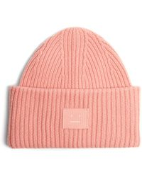 Acne Studios - Pansy S Face Ribbed-knit Beanie Hat - Lyst