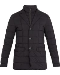 Herno - Notch-lapel Quilted-down Coat - Lyst