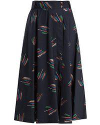Gabriela Hearst - Nellie Abstract-print Cotton Skirt - Lyst