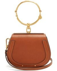 Chloé - Nile Small Leather And Suede Cross Body Bag - Lyst