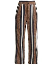 Ace & Jig - Kate Wide-leg Striped Cotton Trousers - Lyst