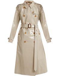 Burberry | Laminated Cotton-gabardine Trench Coat | Lyst