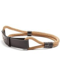 ROKSANDA - Leather-trimmed Rope Waist Belt - Lyst
